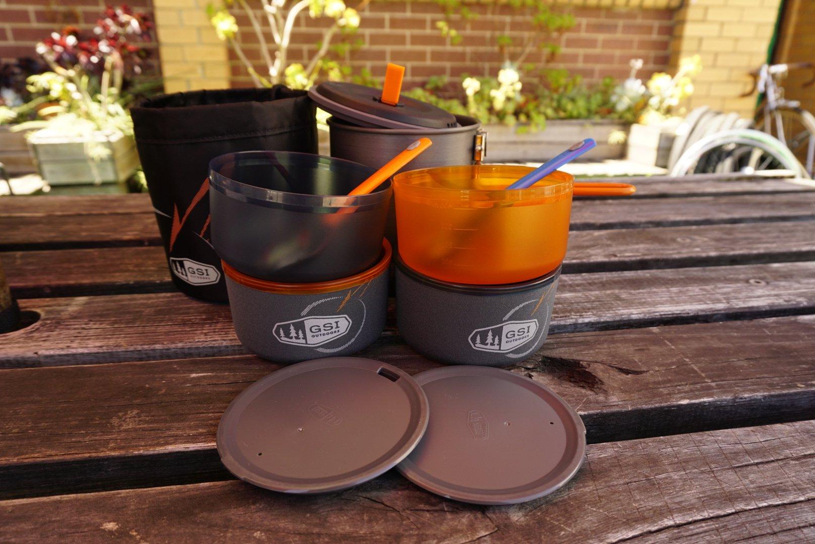 GSI Microdualist cookset unpacked
